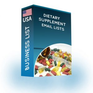 dietary supplement email list